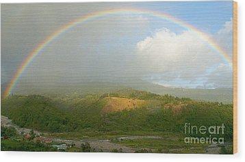 Rainbow Over Boquete Wood Print by Heiko Koehrer-Wagner