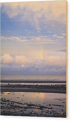 Wood Print featuring the photograph Rainbow Over Bramble Bay by Peta Thames