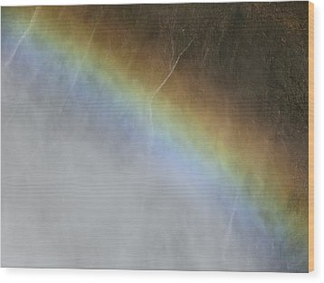 Wood Print featuring the photograph Rainbow Over The Falls by Laurel Powell