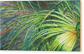 Rainbow Palms Wood Print