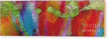 Rainbow Passion Wood Print by Angela L Walker
