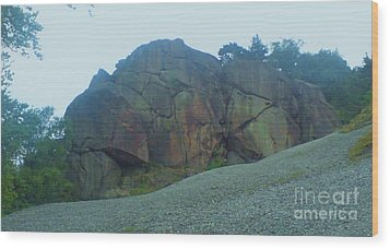 Wood Print featuring the photograph Rainbow Rock by John Williams