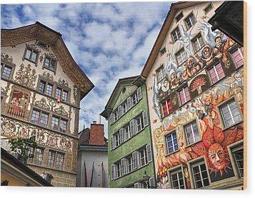 Rainbow Corner  Lucerne Wood Print