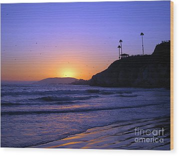 Wood Print featuring the photograph Rainbow Sunset by Debra Thompson