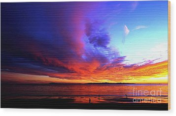 Wood Print featuring the photograph Rainbow Sunset by Sue Halstenberg