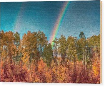 Rainbow Surprise Wood Print by Omaste Witkowski