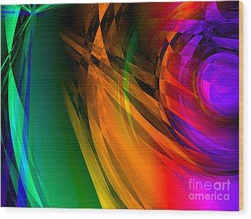 Rainbow Thoughts Wood Print