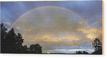Rainbow Wood Print by Tony Cordoza