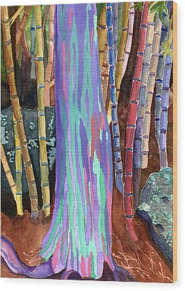 Rainbow Tree Wood Print by Lynne Reichhart
