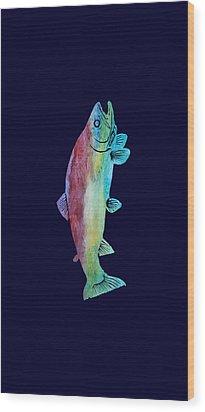 Rainbow Trout Wood Print by Jenny Armitage