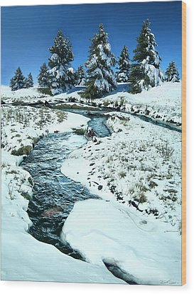 Rainbow Trout Wood Print by Ric Soulen