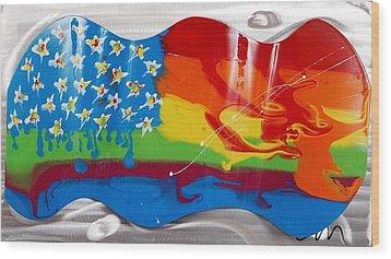 Rainbow Wave - Edition 3 Wood Print by Mac Worthington