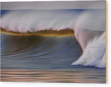 Wood Print featuring the photograph Rainbow Wave  C6j2648 by David Orias