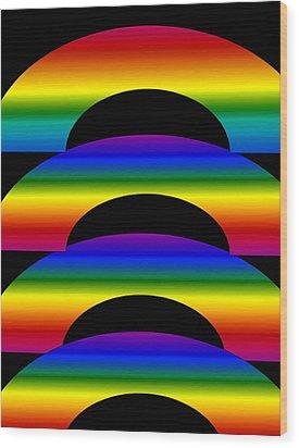 Rainbows Wood Print by Gayle Price Thomas