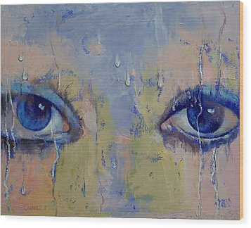 Raindrops Wood Print by Michael Creese
