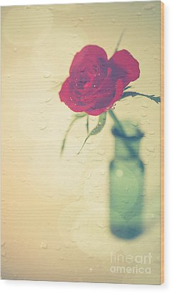 Raindrops On Roses . . . Wood Print