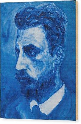Rainer Maria Rilke Wood Print by Sviatoslav Alexakhin
