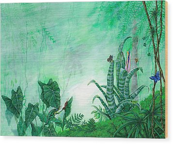 Rainforest Creatures. Wood Print
