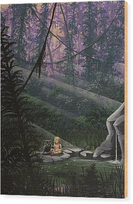 Rainforest Mysteries Wood Print