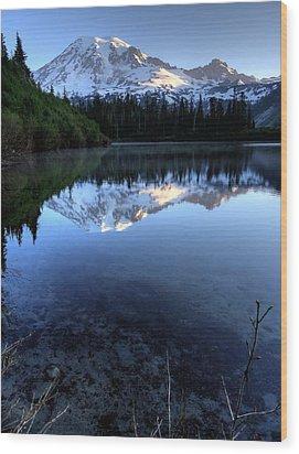 Rainier Redefined Wood Print