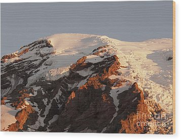 Rainier Summit Wood Print