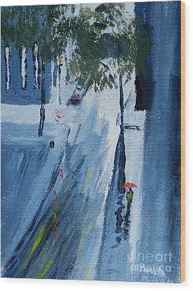 Raining Again Wood Print by Pamela  Meredith