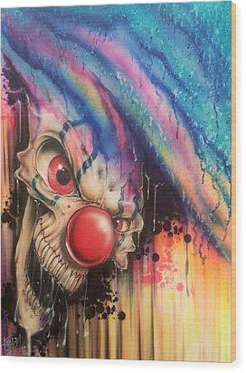 Raining Fear Wood Print by Mike Royal