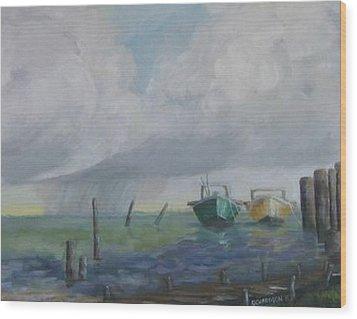Raining On St. George Wood Print by Susan Richardson