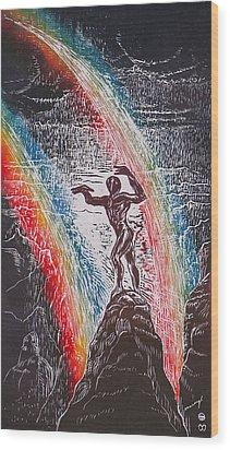 Rainmaker Wood Print by Maria Arango Diener