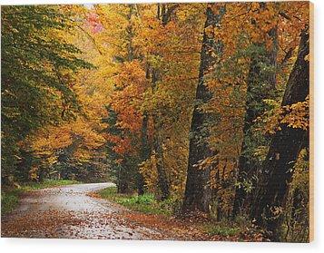 Rainy Autumn Morning Wood Print