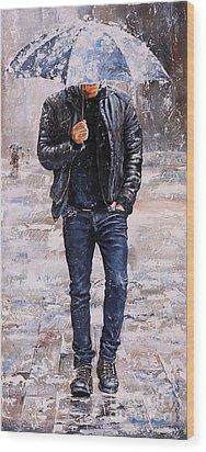 Rainy Day #23 Wood Print by Emerico Imre Toth