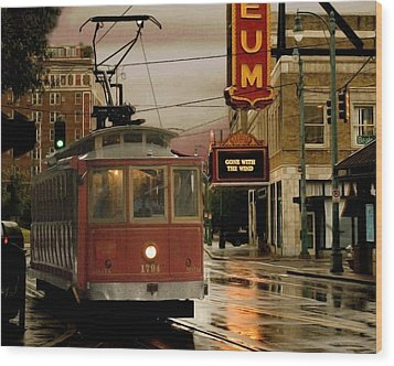 Rainy Day In Memphis Wood Print by Don Wolf