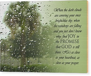 Rainy Day Promise Wood Print by Carolyn Marshall
