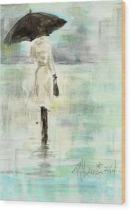 Rainy Monday Wood Print by P J Lewis