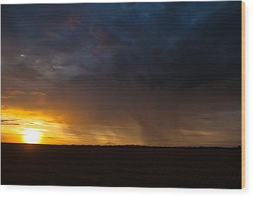 Rainy Sunset  Wood Print by Brandon  Ivey