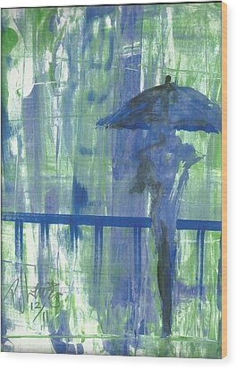 Rainy Thursday Wood Print by P J Lewis