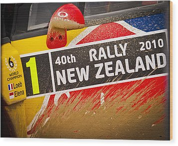 Rally New Zealand Wood Print by motography aka Phil Clark