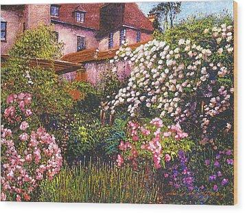 Rambling Rose Impressions Wood Print by David Lloyd Glover