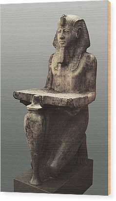 Ramesses II With The Table Of Abydoss Wood Print by Everett