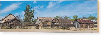 Ranch Panorama Wood Print by Beverly Parks