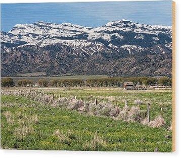 Ranching In Modoc Wood Print by Kathleen Bishop