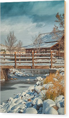 Rancho San Rafael Pavilion Wood Print by Janis Knight