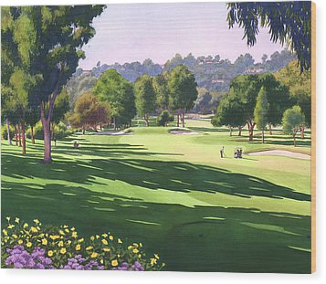 Rancho Santa Fe Golf Course Wood Print by Mary Helmreich