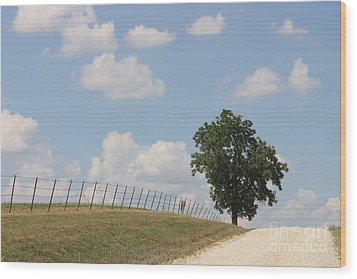 Randolph County Wood Print