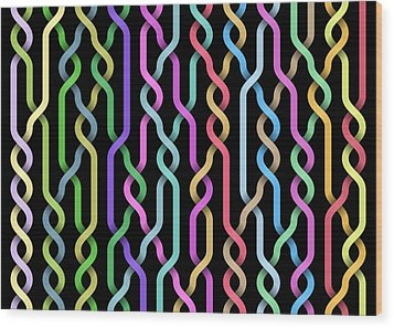 Random Braid 3 Wood Print by Dan Gries
