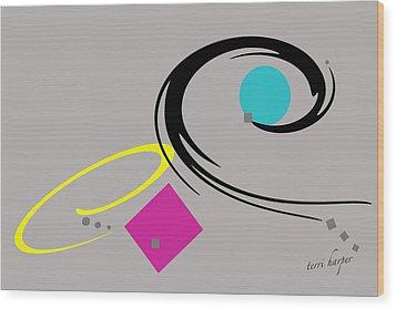 Wood Print featuring the  Randomness Variations 2 by Terri Harper