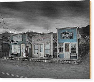 Randsburg Gas Station And Shops Wood Print