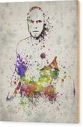 Randy Couture Wood Print by Aged Pixel