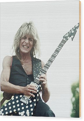 Randy Rhoads New Release At The Green In Oakland-july 4th 1981 Wood Print
