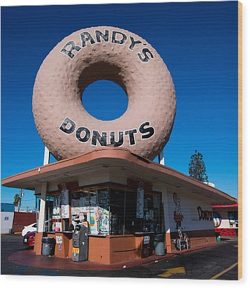 Randy's Donuts Wood Print by Stephen Stookey